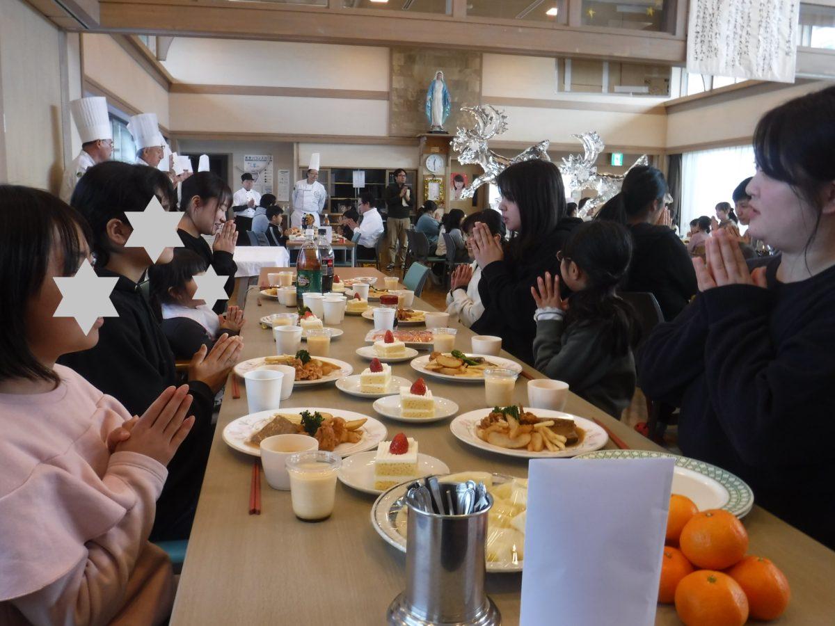 司厨士会の皆様による食事慰問